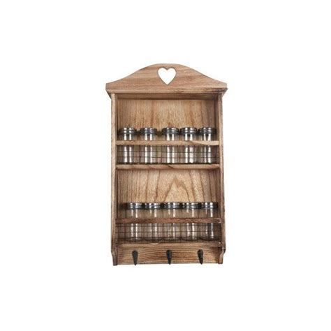 shabby chic spice rack shabby chic rustic wooden hanging spice rack kitchen herbs