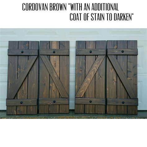 cedar z shutters wood shutters z bar stained cedar exterior by