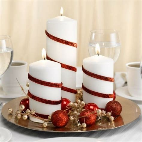 Increíble  Mesas Redondas Para Cocina #9: Mariage-noel-deco-table-spirale-rouge-bande-bougie2.jpg