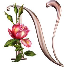 imagenes de letras goticas con rosas letras con rosas png