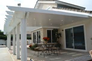 aluminum patio covers recessed lighting in patio cover backyard ideas