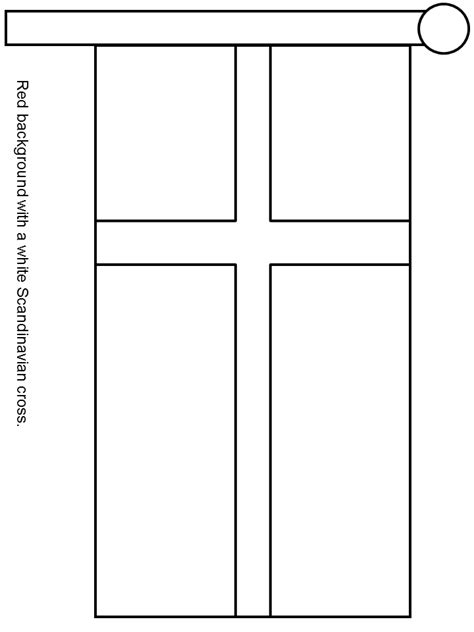 denmark flag free colouring pages