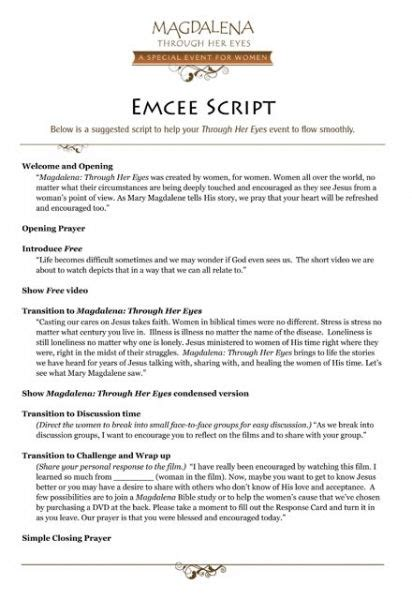 image for best sle emcee script for ideas ian