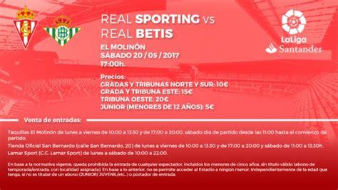 entradas real betis balompie entradas sporting real betis sporting web oficial