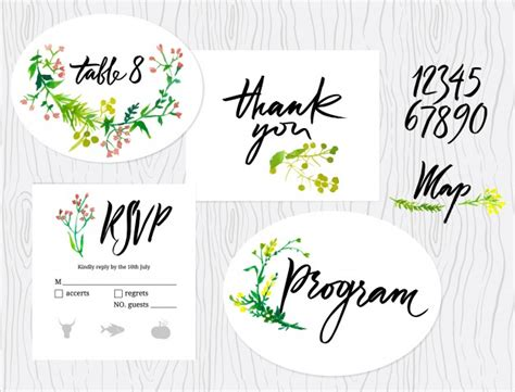 Wedding Graphic by Wedding Graphic Set Vector Free