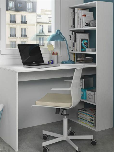 study desk and bookshelf corner computer desk white study table bookcase storage