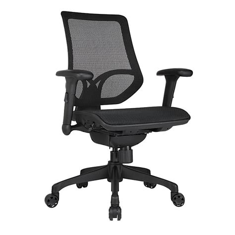 workpro chairs workpro 1000 series mid back mesh task chair black