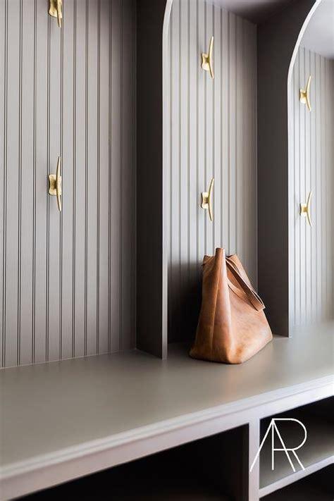 mudroom beadboard gray open mudroom lockers design ideas