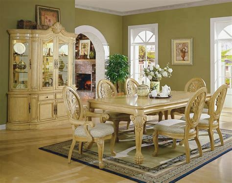 formal dining room antique white formal dining room with carving details