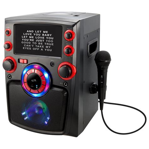 karaoke machine with lights ilive bluetooth karaoke machine with 7 in tft monitor and
