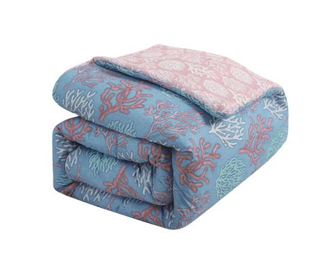 coral bed in a bag 9 piecevenice beach blue coral bed in a bag set ebay