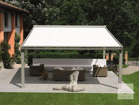 pergolato con tenda pergola con tenda mobile modello perla teach di fanani per