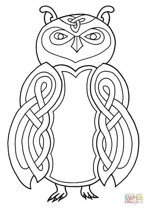 celtic coloring pages celtic owl design coloring page free printable coloring