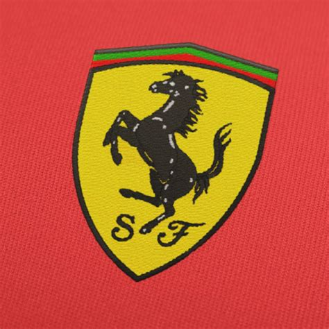 embroidery pattern logo ferrari logo embroidery design