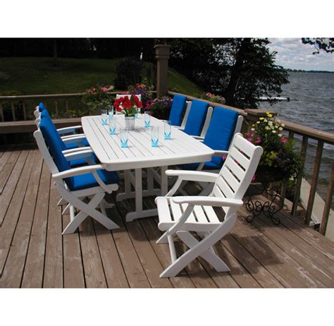 polywood nautical dining table seats 8 10