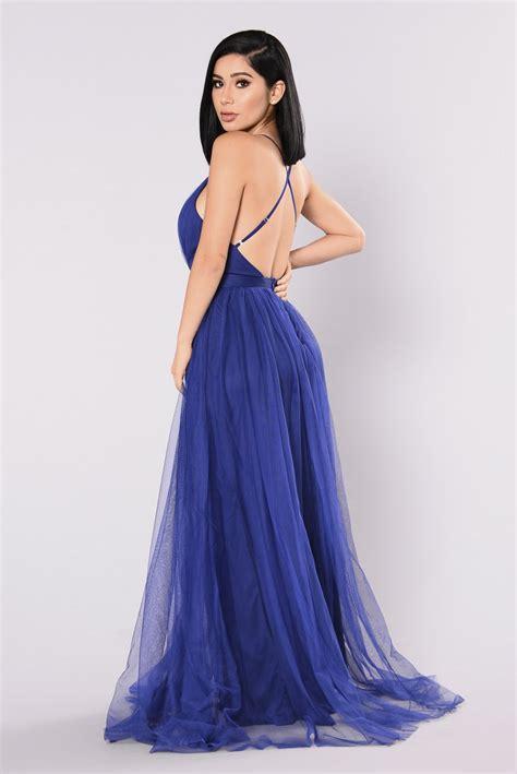 Maxi Dress Novia on the runway maxi dress royal blue