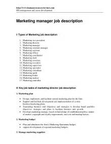 Advertising Executive Description by Assistant Marketing Manager Description Marketing Director Description