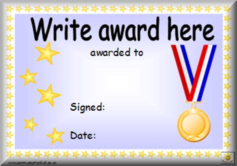 gold medal certificate template awards