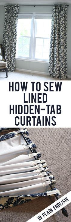 how to sew lined curtains step by step 1000 ideas about diy curtains on pinterest diy curtain