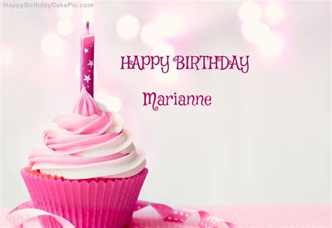 Marianne Design Happy Birthday | happy birthday cupcake candle pink cake for marianne