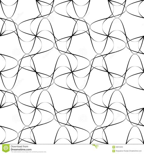 seamless pattern line art black and white seamless pattern wave line style abstract