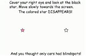 the eye blind spot blindspot test abcarcade