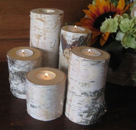 home decor birch wood candle holders wedding decor 26 best images about got a little cabin fever on pinterest