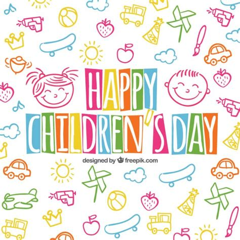 children s day card template fundo do dia das crian 231 as coloridas em estilo esbo 231 ado