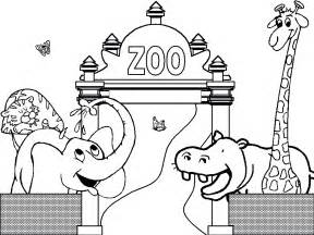 zoo animals coloring pages free printable zoo coloring pages for