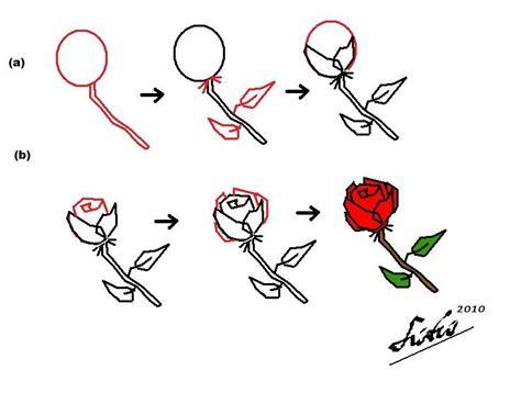 melukis bunga ros  simple fitri
