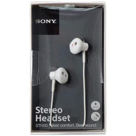 Earphone Sony Sth30 sony sth30 ip57 waterproof stereo headset headphones water