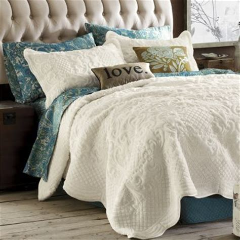 scalloped coverlet plush scalloped coverlet bedding sham from through the