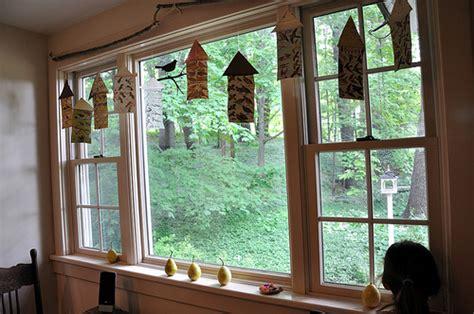 Window Decor Bird Curtain House Kitchen Curtain Design