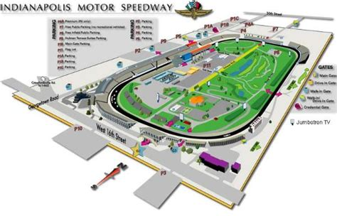 indy 500 map maps of the indy motor speedway grandstand maps