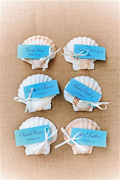 Br Guest Gift Card - seaside inspired diy decorations shell escort cards bridesmagazine co uk