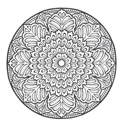 free coloring pages of aztec mandala