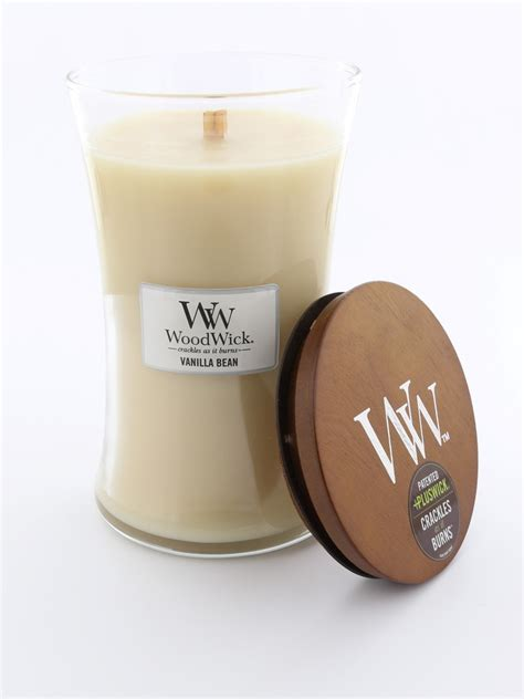 Vanilla Candles by Woodwick Large Candle Jar Vanilla Bean Candles