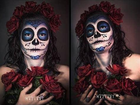 Makeup La makeup tutorial sugar skull quot la muerte azul quot