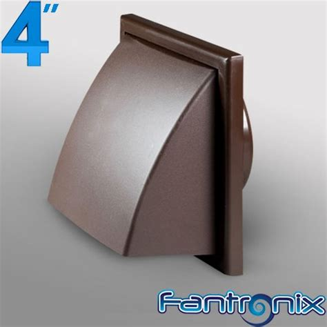 Bathroom Extractor Fan External Cover 4 Inch Dia 100mm Cowled Wall Grille Brown Plastic