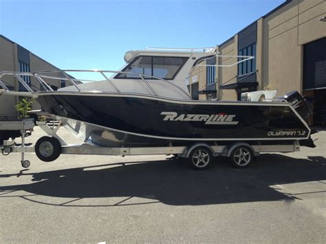 house boats for sale au razerline 7 2 olympian hard top trailer boats boats online for sale aluminium