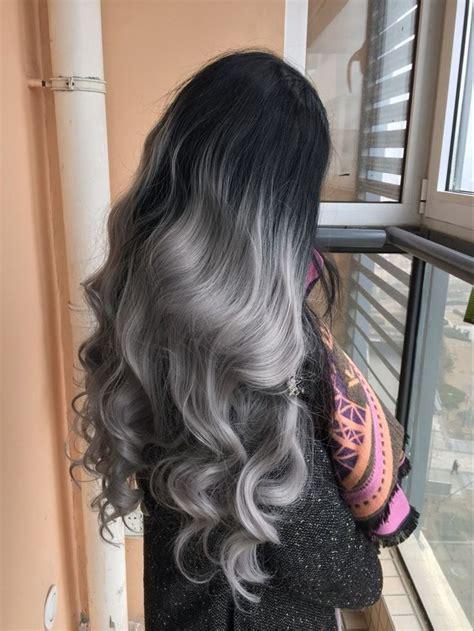long silver hair ideas  pinterest silver