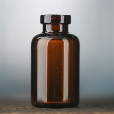 Bath And Shower Gel small amber glass apothecary bottle decorative