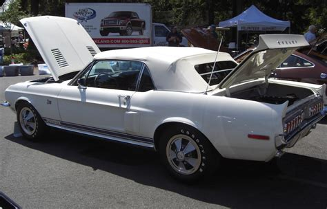 white 1968 mustang wimbledon white 1968 ford mustang shelby gt 500kr