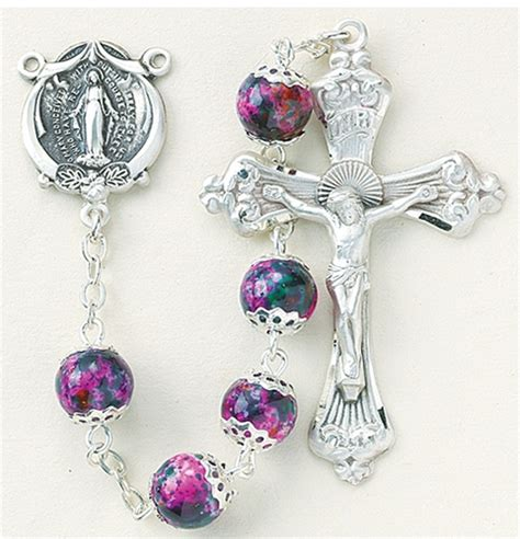 marble rosary pink marble rosary pink glass rosary