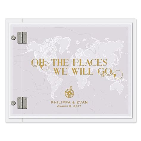 Wedding Guest Book Covers by Vintage Travel Personalised Wedding Guest Book With Clear