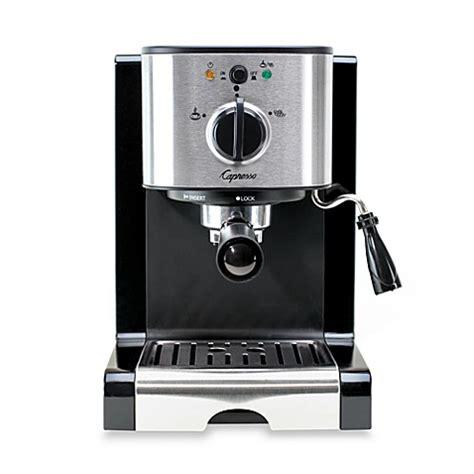 bed bath and beyond coffee capresso 174 ec100 pump espresso cappuccino machine bed