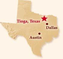 tioga texas map geneautry tioga texas