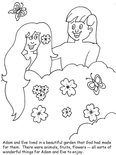 bible coloring pages adam and eve coloring home