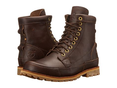 timberland earthkeepers rugged original leather 6 boot timberland earthkeepers 174 rugged original leather 6 quot boot mulch forty leather zappos free