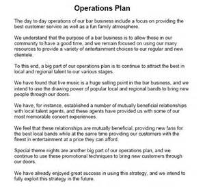 operations plan template operational plan sle